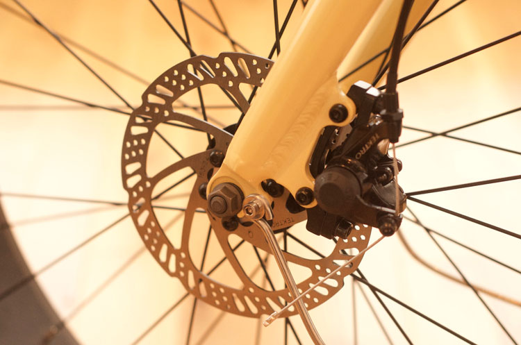160mm Tektro Mechanical Disk brakes for extra stopping power